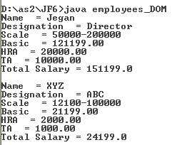 Parsing a XML file in Java using DOM Parser without