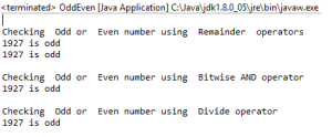 Java Bitwise AND (&) to check a given number is odd or even