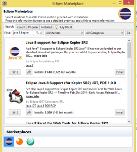 eclipse java 8 support