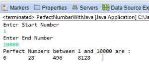 Perfect Number java