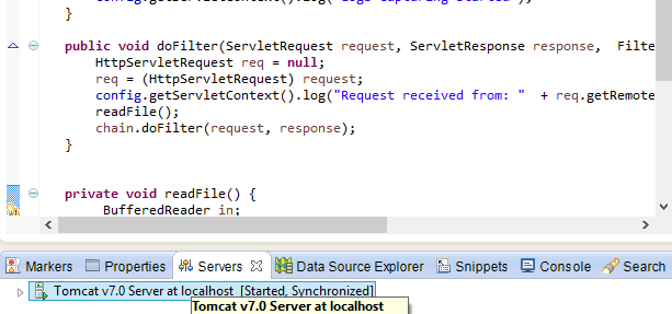 Logging Filter Example code  Capture logs using Java Servlet