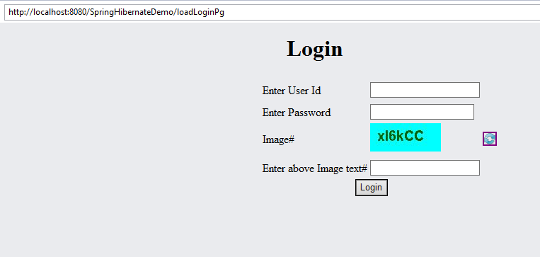 Implementing captcha in spring mvc web application example