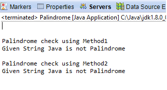 Java program to check given string is Palindrome or not | use