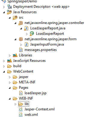 Spring 4 Jasper Report integration example with mysql