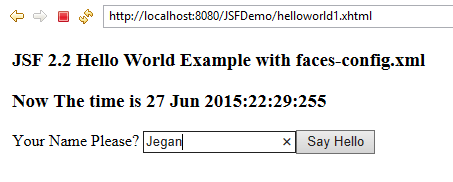 JSF 2 2 Hello World Tutorial & Example in Eclipse with Maven