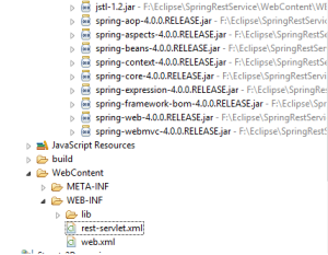 Spring Restful service directory structure1